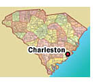 Map of Charleston, South Carolina